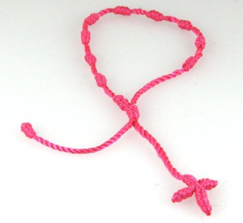 4030565 Hot Pink Decenario Pulseras Knotted Thread Cross Bracelet Hip Hop Kanye West