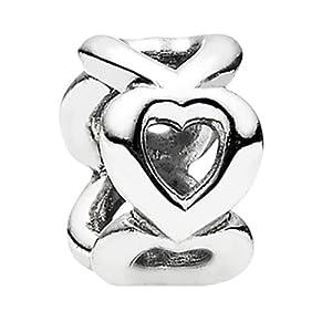 Pandora Damen-Bead Zwischenelement Herzen Sterlingsilber 790454
