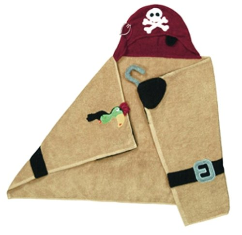 "Pickles Pals 27""X54"" Hooded Towel, Pirate"