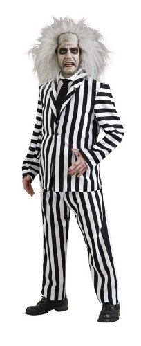 [Deluxe Beetlejuice Costume - X-Large - Chest Size 50] (Beetlejuice Costume Mens)