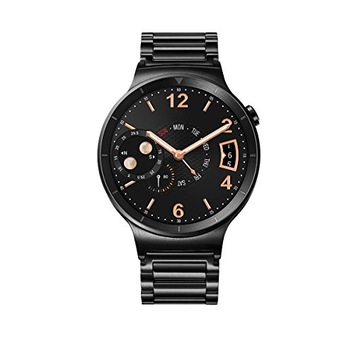 Huawei Watch Black Stainless Steel with Black Stainless Steel Link Band (U.S. Warranty)