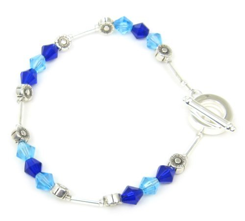 AM5102 – Unique Crystal Bracelet by Dragonheart – turquoise / cobalt blue – 20cm
