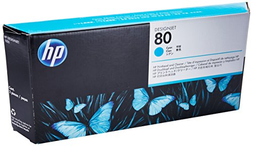 HP C4821A No. 80 Printhead And Cleaner - Cyan