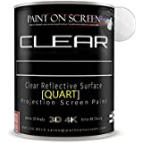 Paint On Screen Projector Screen Paint S1 Screen Plus SIlver - Gallon Clear - Quart