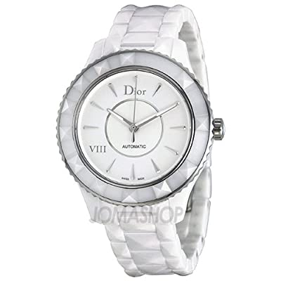 Christian Dior VIII Automatic White Dial White Ceramic Ladies Watch CD1245E3C001