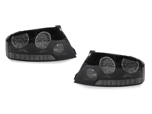 A Pair Of Depo Smoke Lense With Black Housing (Altezza) Led Tail Lights - Mitsubishi Lancer Evolution Viii & Ix (Evo 8 And Evo 9) 2003-2006
