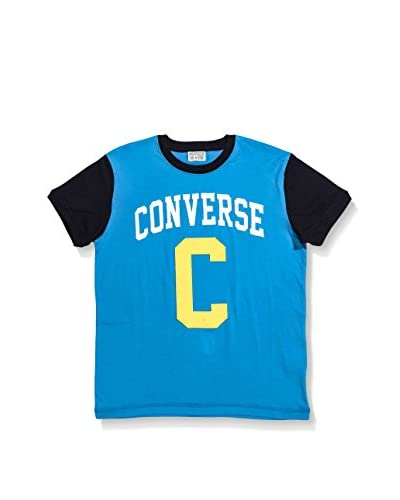 Converse T-Shirt Manica Corta Reas [Turchese/Blu Navy]