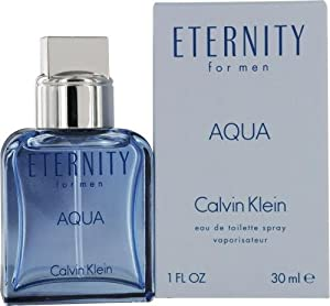 Eternity Aqua by Calvin Klein Eau-de-toilette Spray for Men, 3.40-Ounce