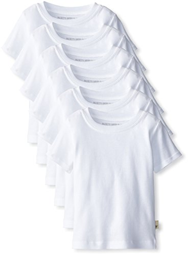 Burt'S Bees Baby-Boys Newborn Set Of 6 Short Sleeve Tees , Cloud, 12 Months front-948301