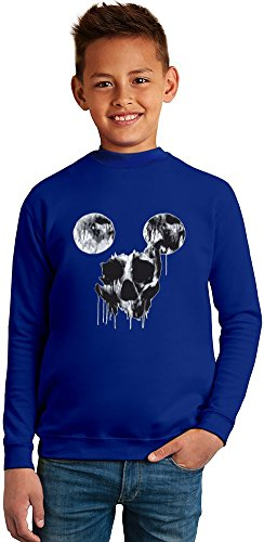 Mickey Mouse Skull Superb Quality Boys Sweater by TRUE FANS APPAREL - 50% Cotton & 50% Polyester- Set-In Sleeves- Open End Yarn- Unisex for Boys and Girls 4-5 years