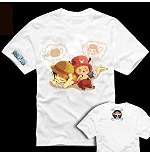 Japanese Anime costumes cosplay costumes One Piece --Tshirt for Luffy & Chopper,Size M