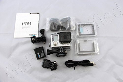 GoPro-HERO-4-Silver-Edition-12MP-Waterproof-Sports-Action-Camera-with-Standard-and-Skeleton-Housing-3-way-Pivot-Arm-and-2-Adhesive-Mounts-Certified-Refurbished