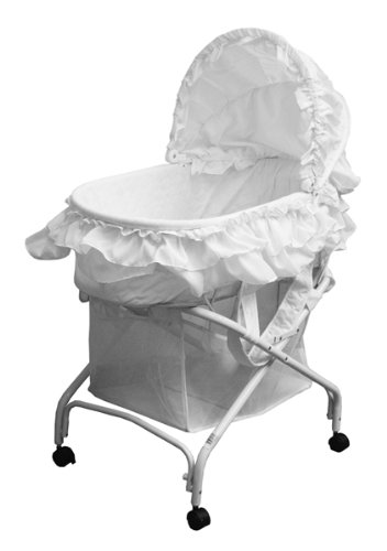 New Dream On Me Bassinet, White