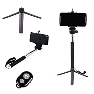 Smiledrive SELFIE STICK WITH TRIPOD STAND & WIRELESS CLICKER USE SELFIE STICK AS A TRIPOD