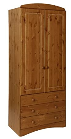 Furniture To Go Aviemore 2-Door 3-Drawer Robe, 192 x 82 x 49 cm, Antique Pine