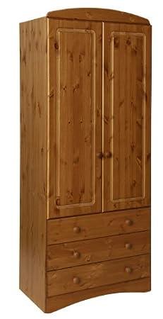 Furniture To Go Aviemore 2-Door 3-Drawer Robe, 192 x 82 x 49 cm, Antique Pine