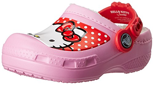 Crocs 15870 Hello Kitty Dots Lined Clog (Toddler/Little Kid/Big Kid),Carnation,12 M US Little Kid