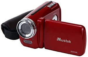 Mustek DV518L-RED Digital Video Camera (Red) by Mustek