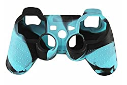 Hytech Plus Playstation 3 Controller Skin Black Blue