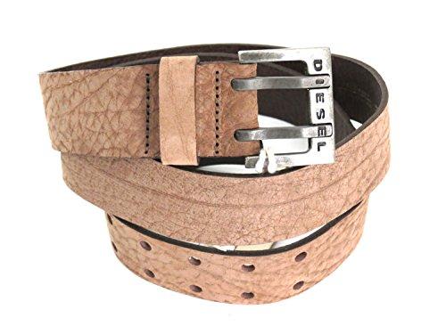 Diesel Cintura in pelle di colore talpa