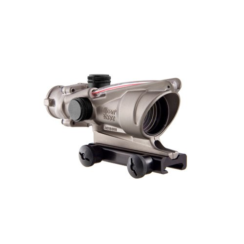 Acog Ta31-C-100198 Nickel Boron Dual Illuminated Red Crosshair .223 Bac Reticle With Ta51 Mount, 4X 32Mm
