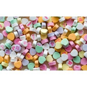 Classic Conversation Hearts in 5 Pound Bulk