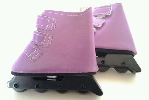 PURPLE ROLLER BLADES FOR AMERICAN GIRL DOLLS - 1