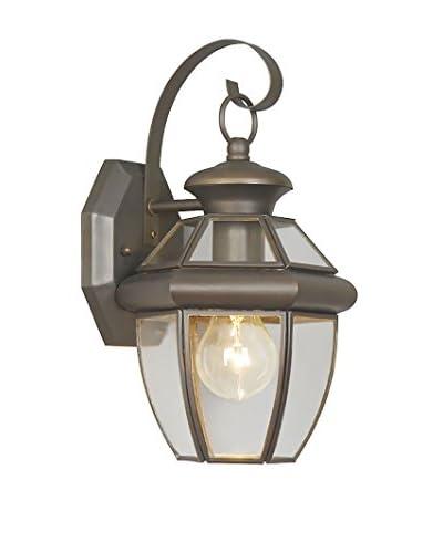 Crestwood Marigold 1-Light Wall Lantern, Bronze