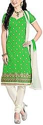 Fabiola Trendz Women's Cotton Silk Unstitched Dress Material (Green )