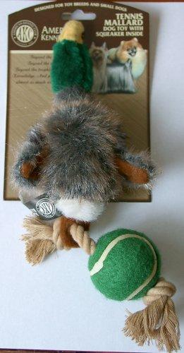 AKC Mini Mallard Duck Dog Toy w/ Rope Ball & Squeaker