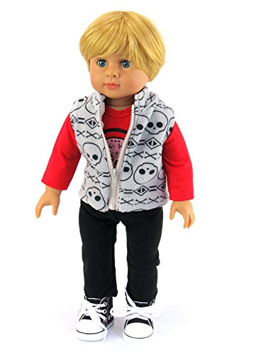 Rockin Boys Outfit Includes: Shirt, Vest, and Pants| Fits 18