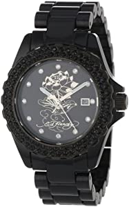 .com: Ed Hardy Women's DU-LO Dulcet Lotus Watch: Ed Hardy: Watches