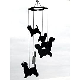 Westie Metal Wind Chime