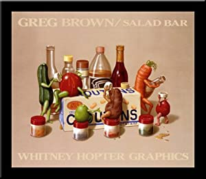 'SALAD BAR' Fruit Vegetable Humor art FRAMED PRINT - Greg Brown