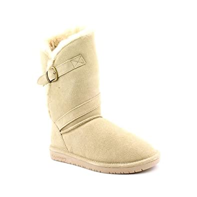 BEARPAW Women's Tatum Snow Boot,Camel,8 M US