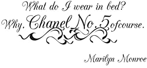 Quote Marilyn Monroe Chanel No. 5