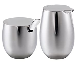 Bodum Columbia Stainless-Steel Sugar and Creamer Set by Bodum