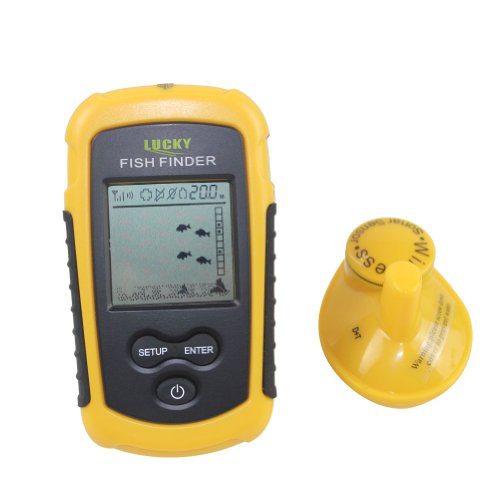 Portable Wireless Fish Finder  LCD display Depth