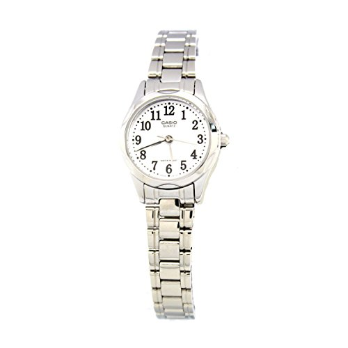 Casio Ladies LTP-1275D-7B Stainless Steel Analog Casual Dress White Dial Watch