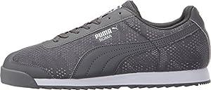 PUMA Men's Roma Engineer Camou Steel Gray/White Sneaker 14 D (M)