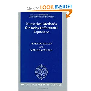 Numerical Methods for Delay Differential Equations Alfredo Bellen, Marino Zennaro