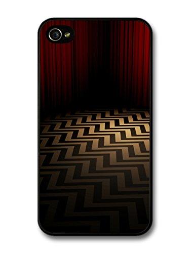 Twin Peaks TV Series Red Room with Optical Illusion Floor custodia per iPhone 4 4S