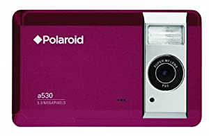 Polaroid a530 5.0 MP Digital Camera with 2.7 Inch LCD Display (Red)