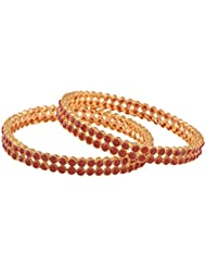 Ganapathy Gems Pink Gold Plated Bangle For Women - B01IRQIBRM