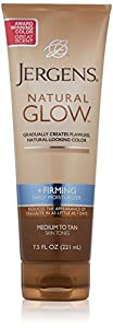 Jergens Natural Glow Firming Daily Moisturizer, Medium to Tan, 7.5 Ounces