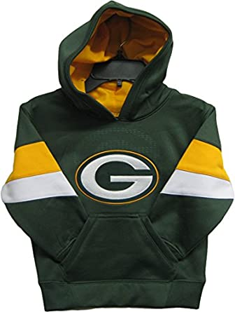 Green Bay Packers Green NFL Youth The Edge Pullover Hooded Sweatshirt - Hoody by OuterStuff