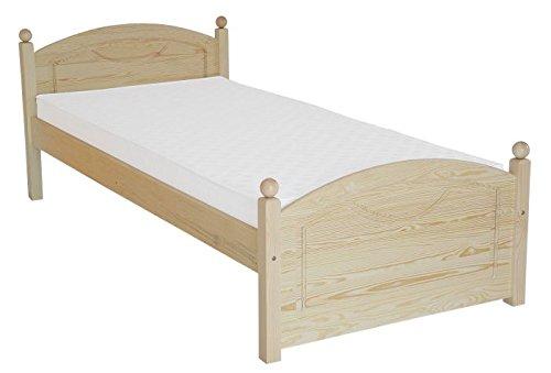 Kinderbett / Jugendbett Kiefer massiv Vollholz natur 82, inkl. Lattenrost - Abmessung 100 x 200 cm
