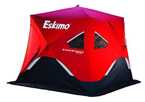 Eskimo FF949 FatFish 3-4 Person Pop Up Portable Ice Shelter, Red/Black (Eskimo Ice Shanty compare prices)