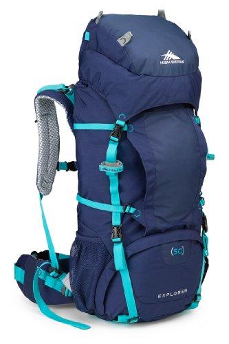 High Sierra Women'S Explorer 50 Internal Frame Pack, True Navy/True Navy/Tropic Teal front-274605