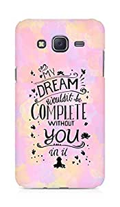 AMEZ my dream wouldnt have been complete without you Back Cover For Samsung Galaxy J5